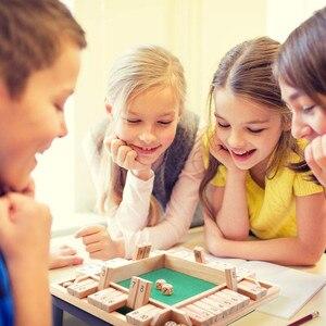 Shut The Box-dados de tablero de madera para Pub, Juego de 4 PlayersToys para niños, regalo de fiesta de cumpleaños, regalo de Navidad