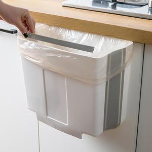 Folding Waste Bins Kitchen Garbage Bin Foldable Car Trash Can Wall Mounted Trashcan for Bathroom Toilet Waste Storage Bucket(China)