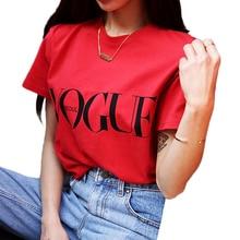 T shirt manches courtes Femme, vêtement de Style coréen, à la mode, en lettres rouges, en Vogue, décontracté