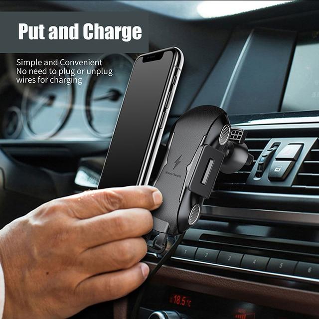 삼성 갤럭시 S20 울트라 5G s20ultra 케이스 액세서리에 대 한 자동 자동차 마운트 치 무선 충전기 빠른 충전 자동차 전화 홀더