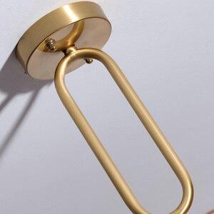 Image 5 - הגעה חדשה LED תליון אורות מנורת מודרני בית תאורה מקורה מתקן זהב אור AC110 220V קפה חדר תליית מנורת בר אור