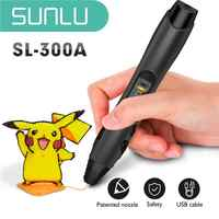 Sunlu SL-300A 3d caneta original fabricante inteligente temperatura de segurança 3d impressão caneta com abs/pla/pcl filamento brinquedo presente