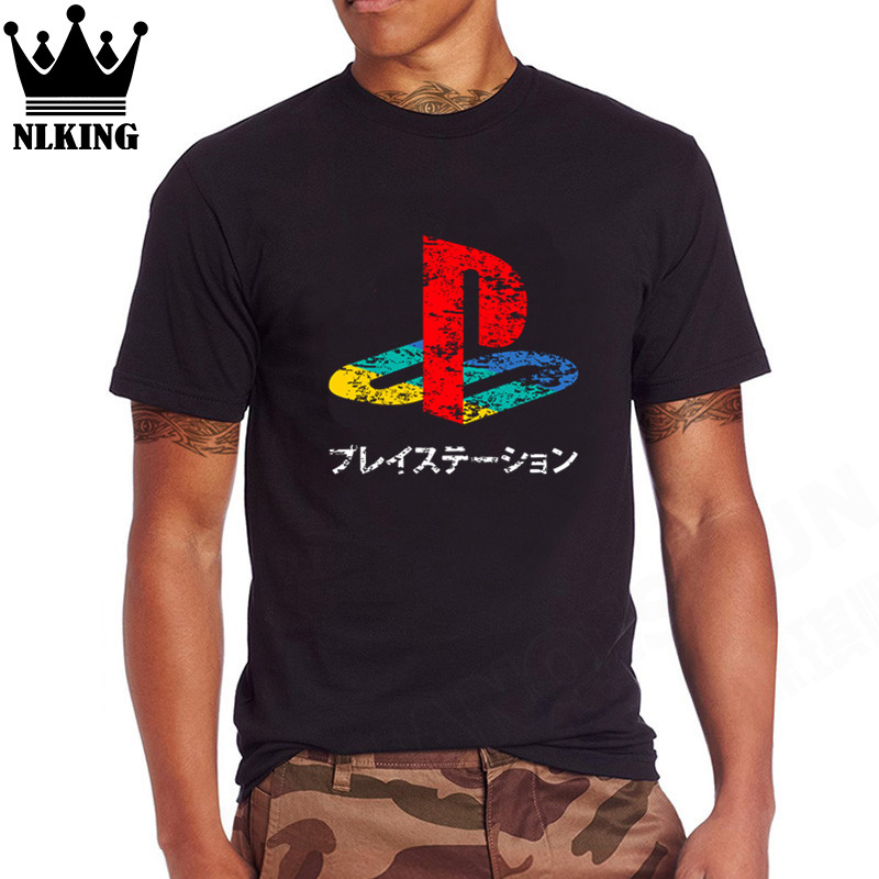 Kids PS1-PS4 3D playstation tshirt Xbox Vedeo Game creative t shirt Man Streetwear Pure cotton top tees Vintage PS Logo T-shirt image