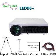 Светодиодный проектор 5500 люмен Full HD 1080P 3D домашний кинотеатр проектор светодиодный 96 + офисный бизнес развлекательный проектор