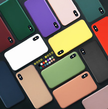 Luxury Soft Back Matte Color Cases for iPhone 11pro 7 plus 8 5 6s X XS max XR Xsmax Case Shockproof TPU Silicone Back Cover Capa цена и фото
