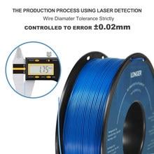 Filamento do pla do filamento 1.75mm do pla de longer para a impressora 3d 1kg pelo material do pla do rolo para o filamento 3d da impressora do pla do filamento da impressão 3d