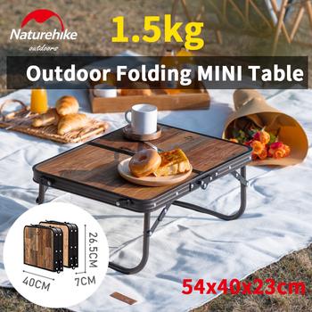 Naturehike Ultralight Mini składany stół 1 5kg przenośne łóżko podłoga biurko ze stopu aluminium ze stopu aluminium obóz podróży grill meble-stół pokładzie Chai tanie i dobre opinie CN (pochodzenie) NH20JJ028 Outdoor Folding Table About 1 5KG 53x40x23cm 26 5x40x7cm 46x32 5x8cm 25KG Aluminum Alloy MDF Density Fiberboard (Thickness 4MM)