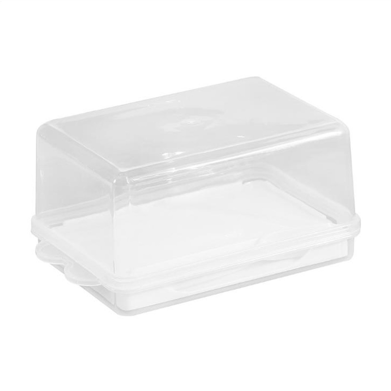 Transparent Enlarged Cheese Server Keeper Tray Plastic Butter Storage Box Container with Cover