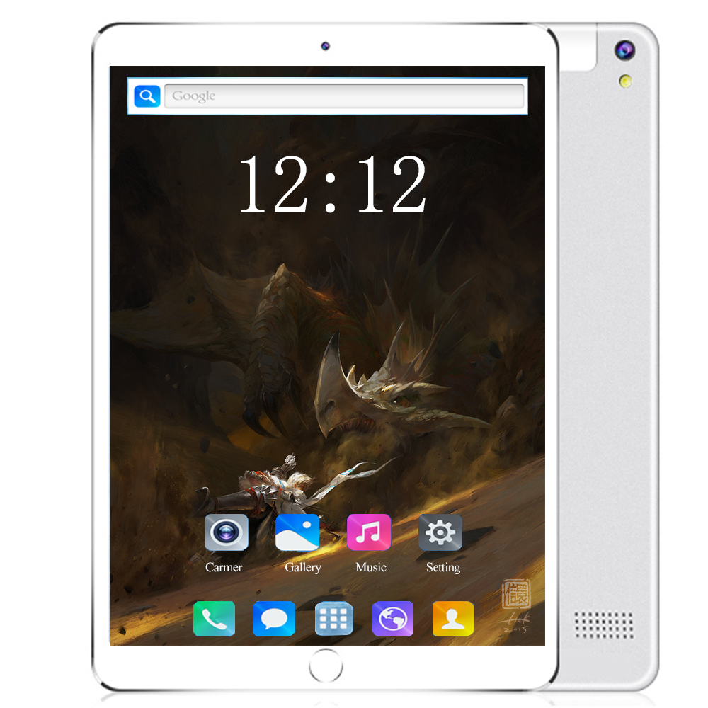 4G Phone Call 10 Inch Tablet PC Android 8.0 6GB RAM 128GB ROM Octa Cores Dual Cameras 5MP 1280 800 IPS Tablet Bluetooth Computer