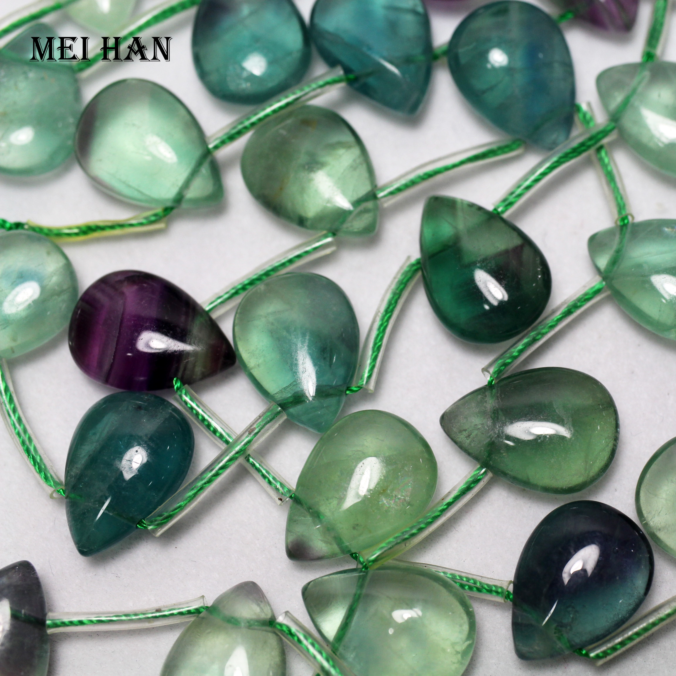 Semi Precious Stone Jade Chalcedony Glass Quartz Faceted Round Teardrop Beads