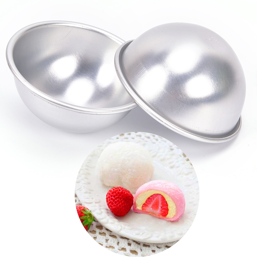 Creative Mold Bath Bombs Metal Aluminum Alloy Bath Bomb Mold 3D Ball Sphere Shape DIY Bathing Tool Accessories