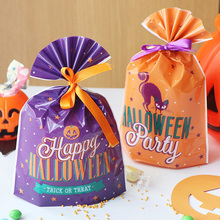 20pcs Halloween Gift Bags Cookie Candy Bags Plastic Bag Snack Biscuit Baking Packaging Festival Party Halloween Decoration 100pcs opp transparent flat mouth stand up bag snack bread baking packaging plastic gift candy packaging bags
