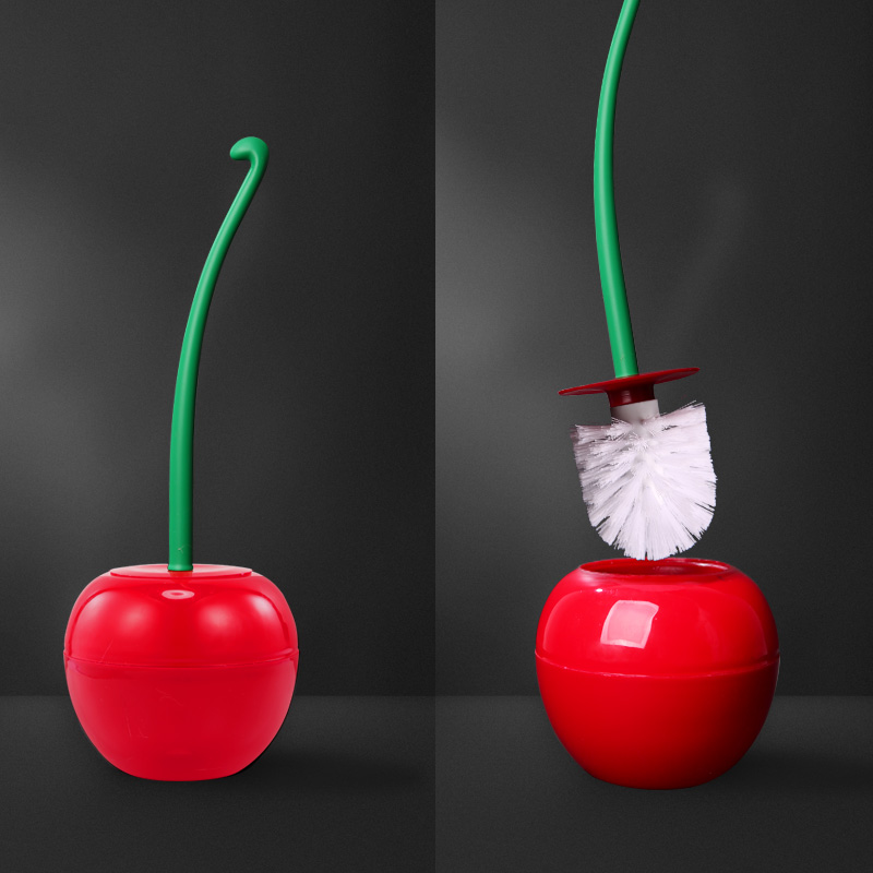 Replacement Toilet Brush Head Toilet Brush Set With Holder Funny Toilet Brush Toilet Brush In Wall Cherry Shape Toilet Brush
