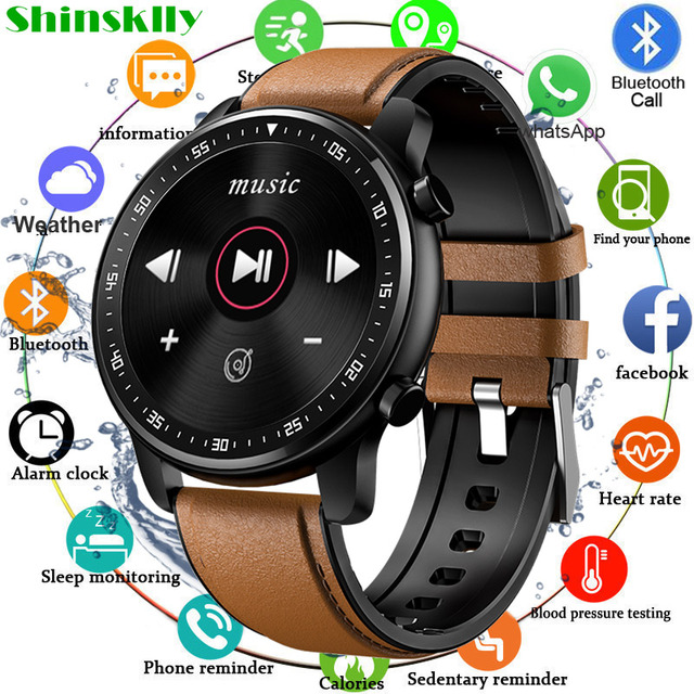 Full Touch Smart Watch Bluetooth Call Play Music Sport Smartwatch Men Women Heart Rate Fitness Tracker Watch For Android Iphone 1
