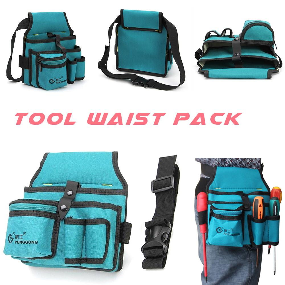 Multi-pockets Tool Bag Waist Pockets Electrician Tool Bag Oganizer Carrying Pouch Tools Bag Belt Waist Pocket Case 20x 12x 12 Cm