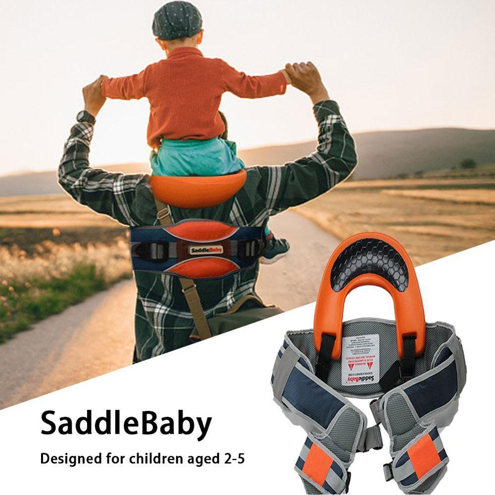 Outdoor Travel Children Tool Hands Free Shoulder Carrier Hip Seat Travel Child Strap Rider Travel Back Frame Infant Saddle