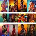 AMTMBS африканские женщины DIY Краска по номерам на холсте DIY Ручная работа взрослые красители по номерам Акриловая Краска АФРИКАНСКАЯ ДЕВУШКА