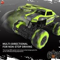 Kids Toy 1:16 12CH Omnidirectional Remote Control Climbing Stunt Car 2.4G 15Mins 360 Degree Drift Auto Display 4WD RC Racing Car
