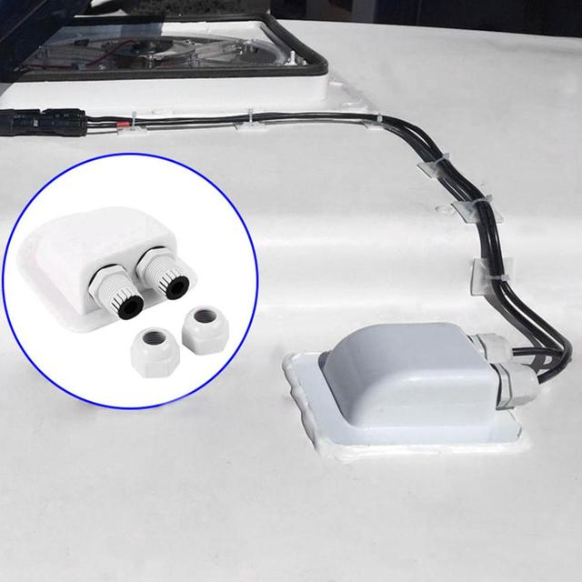 Roof Wire Entry Gland Box Solar Panel Cable Motorhome Caravan Boat 4