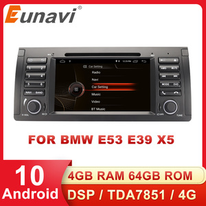 Eunavi 1 din 7'' Android 10.0 Car dvd player For BMW E53 E39 X5 Quad core Auto radio Car Multimedia Stereo with DSP WIFI BT SWC