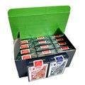 12 deck/caixa de qualidade à prova dwaterproof água pvc plástico jogar cartas definir tendência poker clássico truques mágicos cartões de poker branco caixa-embalado