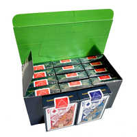 12 Deck/Box Qualität Wasserdichte PVC Kunststoff Spielkarten Set Trend Poker Classic Magic Tricks Weiß Poker Karten Box -verpackt