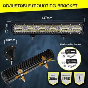"Image 4 - LED Light Bar Offroad 4x4 360W 18"" Work Light Bar 12V 24V Combo Beams Car Headlight for Truck ATV Tractor Auto SUV ATV led barra"