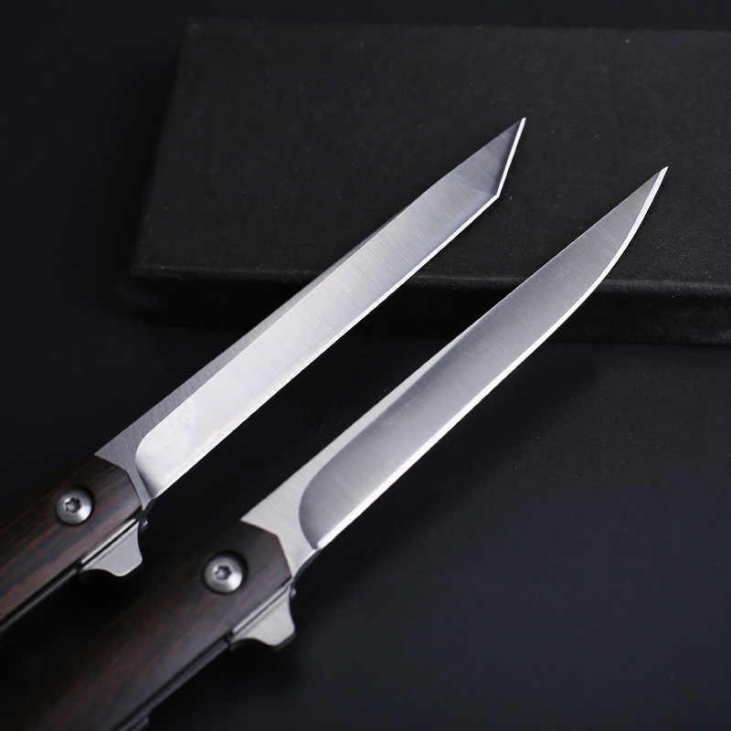 2020 yeni gelenler ahşap M390 çelik bıçaklar Mini cep katlanır bıçak silah hayatta kalma aracı avcılık EDC adam kadınlar için kendini savunma