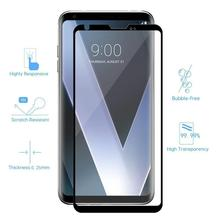 3D 9H Full Cover Black Screen Protector For LG V30 V40 Plus V50 Tempered Glass Protective Glass Film Edge To Edge Full Coverage