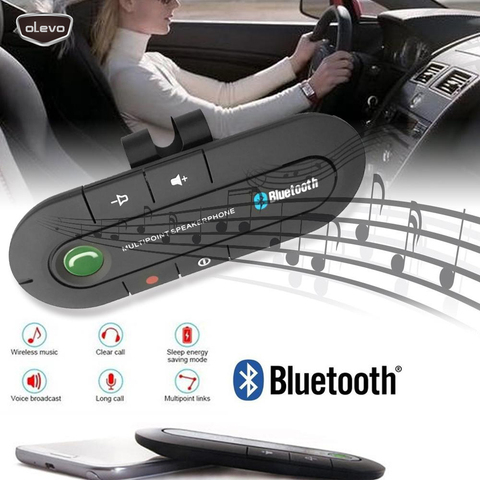 carro sem fio bluetooth v4 13w maos livres bluetooth viseira clipe kit multiponto speakerphone carro
