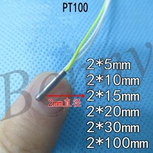 Image 1 - Ultra Small Pt100 Temperature Sensor Platinum Resistance PT1000 Temperature Probe 2mm Diameter 234 Lines