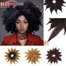 8 дюймов Короткие вязанные косички Марли Волосы мягкие афро Твист Синтетические косички волосы марли наращивание волос для женщин