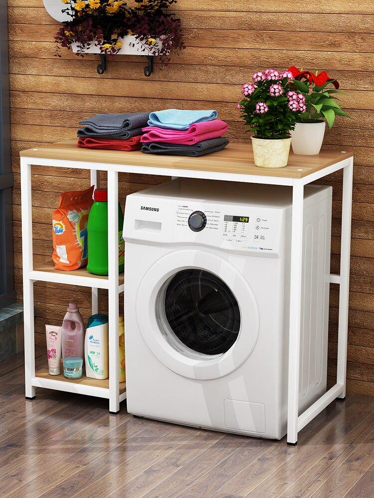 Machine à laver étagère de rangement tambour pulsateur atterrissage multi-étages support ménage salle de bain étagère de rangement balcon armoire à linge