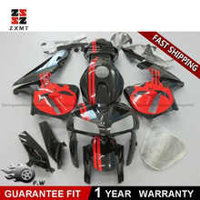 ZXMOTO ABS Fairing Kit for Honda CBR600RR 2005-2006 Injection Motorcycle Road Racing Fairings Black and Red west bodywork