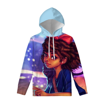 FORUDESIGNS African Black Girl New Women Hoodies Printed on demand Casual Long sleeve with pocket Autumn Winter Outdoor Pullover