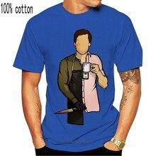 Homens T-Shirt Preta Grande Alto Camiseta Dexter Morgan