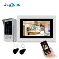 720P WiFi IP Video Door Phone Video Intercom 7'' Touch Screen Free App Remote Unlock Code Keypad RFIC Card Access Control System