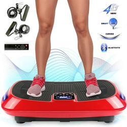 HEIßE Übung Elektrische Vibration Platewith 4D Vibration Technologie Körper Former Mit Bands Fitness Plattform Ausrüstung HWC
