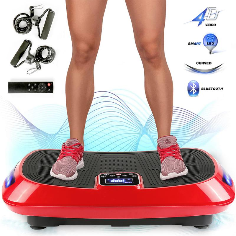 HOT Exercise Electrical Vibration Platewith 4D Vibration Technology Body Shaper With Bands Fitness Platform Equipment HWC