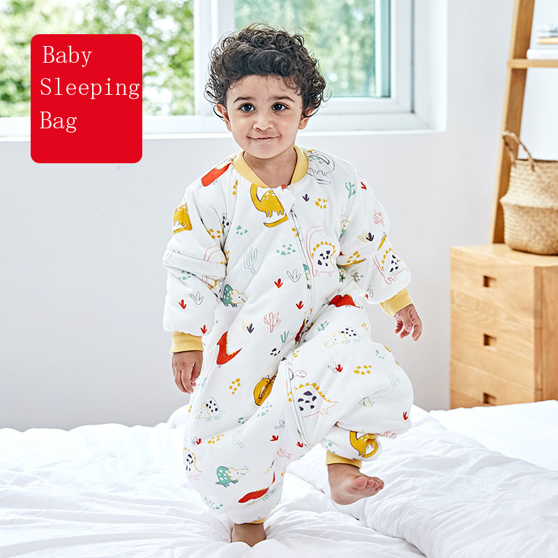Baby Sleeping Bags For Winter Thick Cute Jumpsuit For Children Catroon Pattern Sleep Sack For Kids Cotton Soft Baby Pajamas