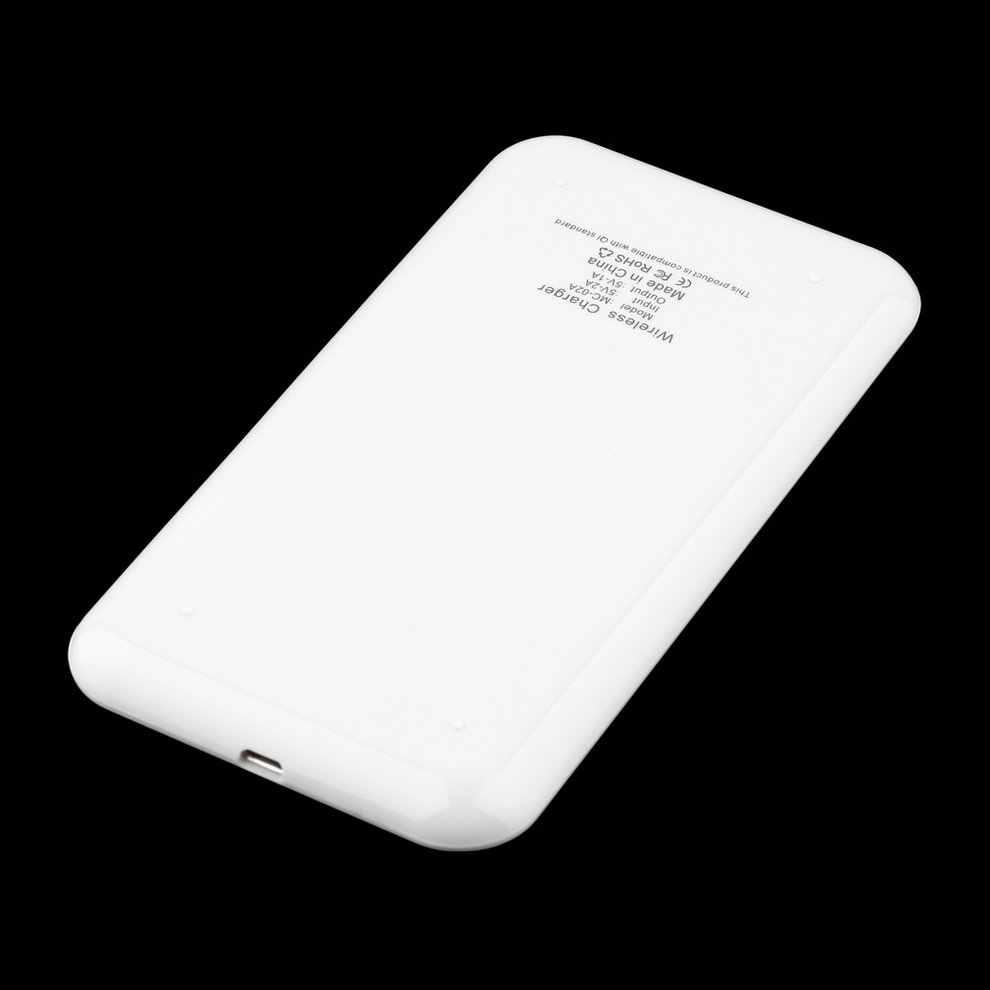 スリム薄型デザインユニバーサルチー標準ワイヤレスパワー充電パッド携帯電話と 1 ポートネロ USB 電源ケーブルブラックホワイト