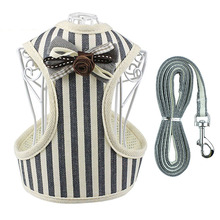 Dog Cat Harness Leash Set with Bell Soft Mesh Pet Puppy Vest Nylon and for Small Medium Dogs