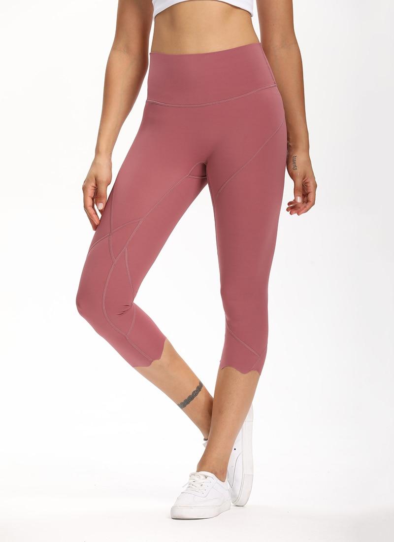 Hd57004f089c5494d8e58510f0c45419ai Cardism High Waist Sport Pants Women Yoga Sports Gym Sexy Leggings For Fitness Joggers Push Up Women Calf Length Pants Wave