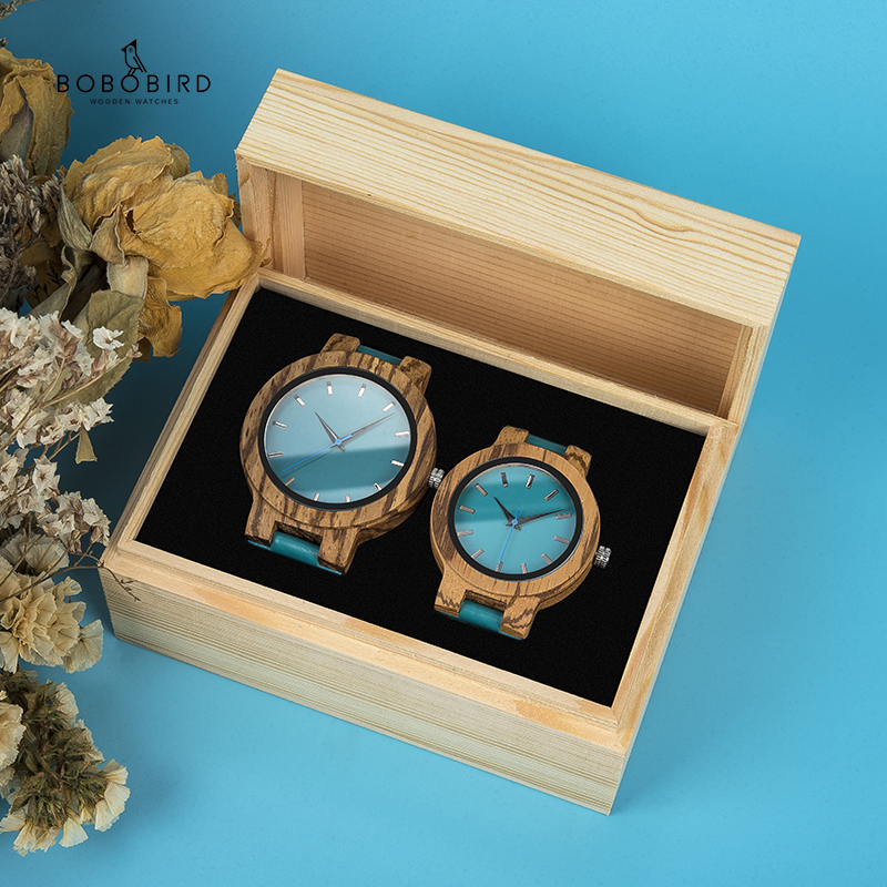 BOBO BIRD Couple Watch Wood Watch Simple Classic Lover's  Wrist Watches Quartz Customized Gift Lovers Anniversary Gifts Relogios