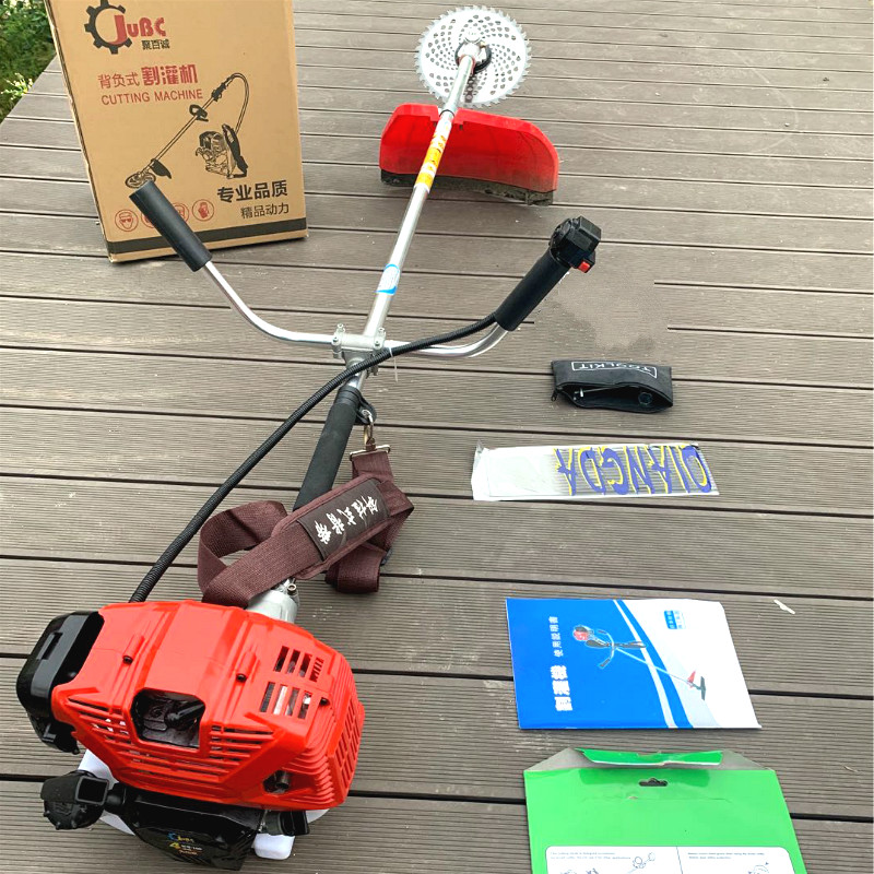 Four-stroke Side-mounted Mower Garden Grass Hedge Trimmer Cutting Machine Agricultural Harvester Orchar Pine Soil Gasoline Mower