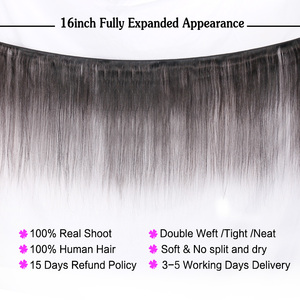 Image 2 - NAFUN Peruvian Straight Hair Bundles With Lace Frontal Human Hair Bundles With Frontal Non Remy Hair Extensions Middle Ratio