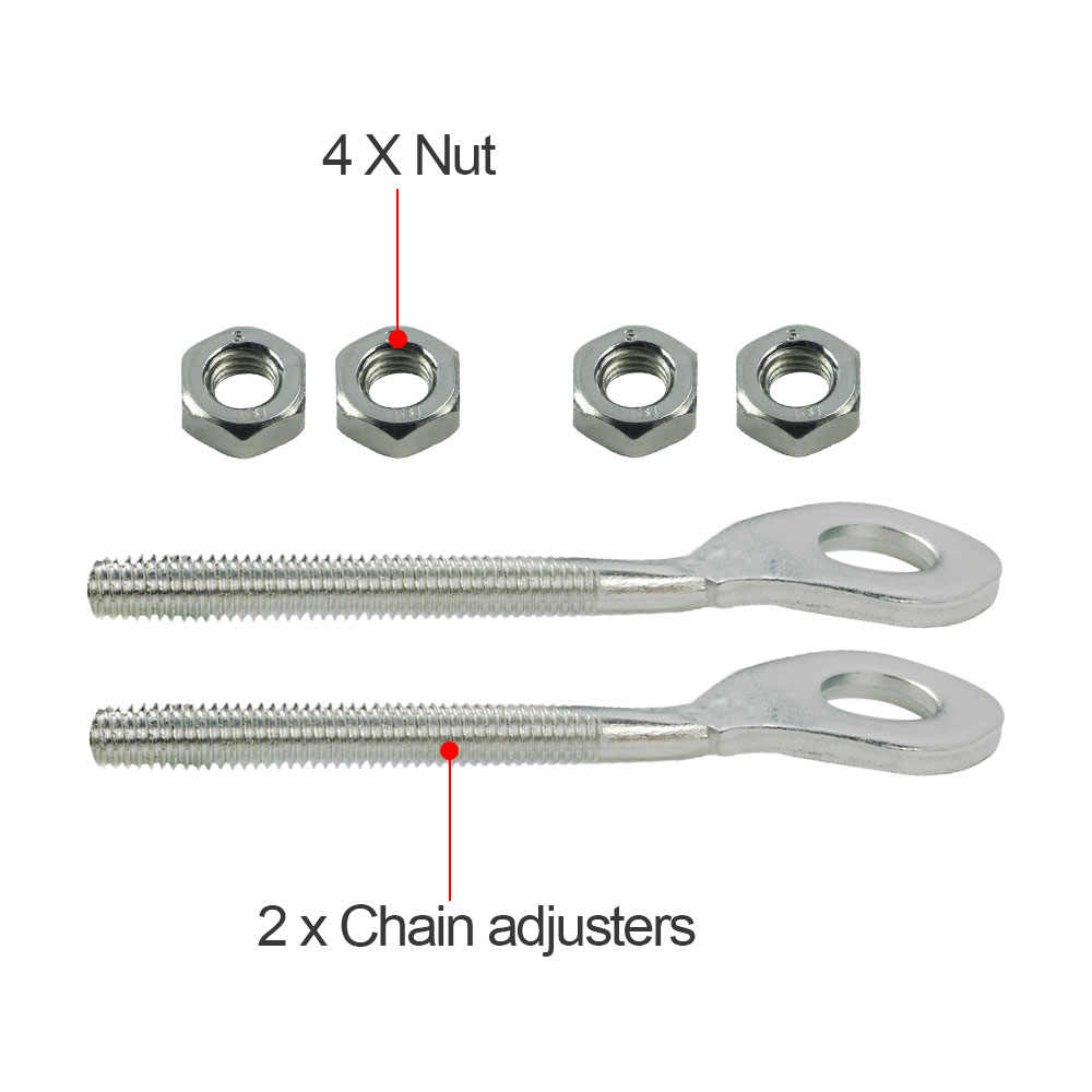 Honda CRF450R 2005 stainless steel rear chain axle adjuster tensioner bolts