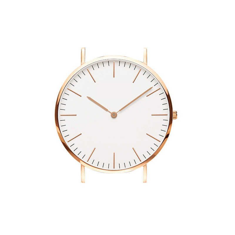 High quality scale watch head wrist watch accessories wholesale unisex rose golden silver watches
