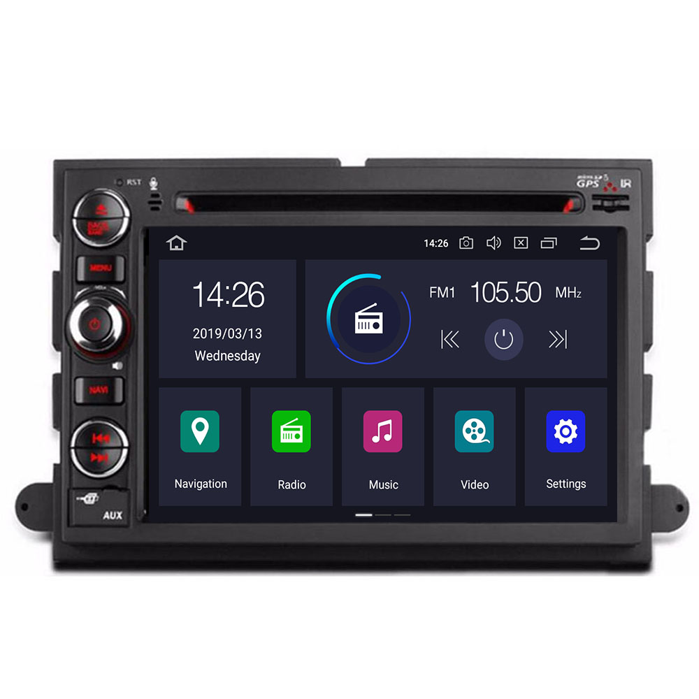 7'' 2 Din Octa 8 core Android 10 4+64G Car DVD for <font><b>Ford</b></font> Focus Fusion Expedition Explorer F150 F350 F500 <font><b>Escape</b></font> Edge Mustang image