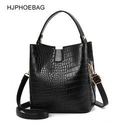 Bolso bandolera de cocodrilo de moda HJPHOEBAG para mujer bolsos de diseñador para mujer bolso de cuero de PU de lujo bolso de cubo YC254